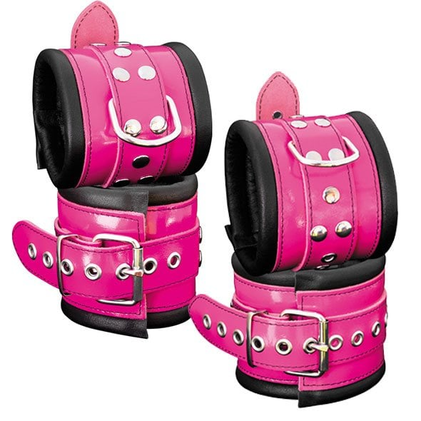 Hand- & Fußfesseln Pink