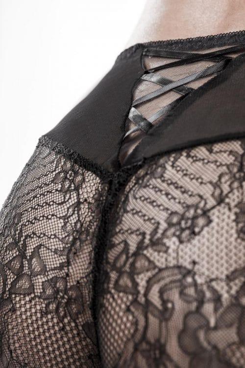2-teiliges Spitzencami-Set - Grey Velvet