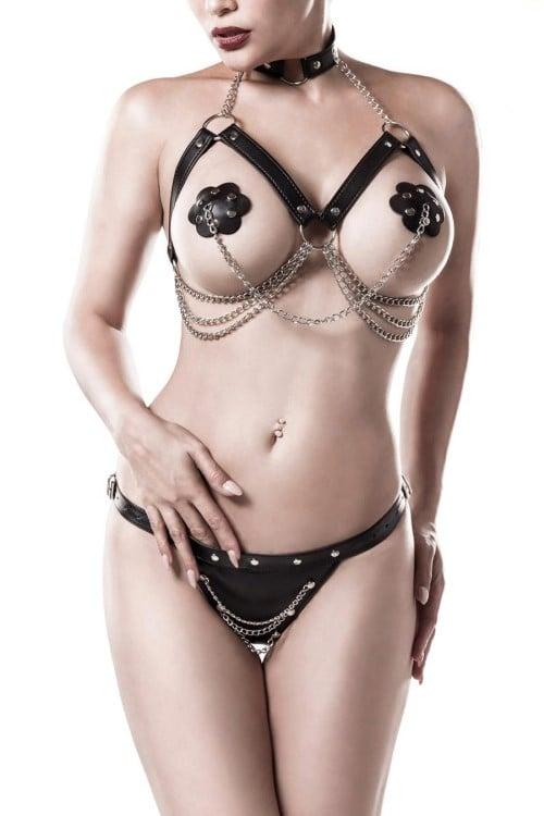 3-teiliges Erotikset - Grey Velvet