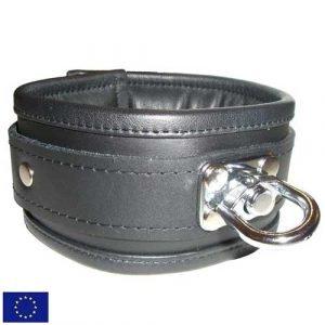 BDSM Halsband, gepolstert mit drehbarem D-Ring