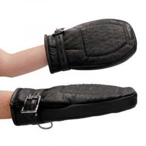 Bondage Handschuhe mit Metallzähnen
