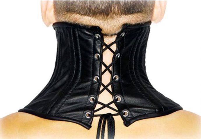 Bondage Nackenkorsett - Leder