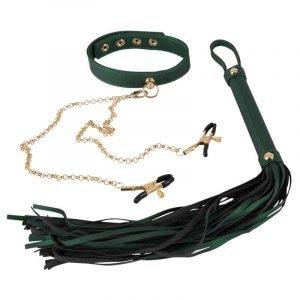 Flogger und Halsband