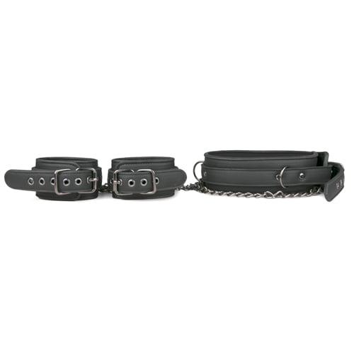 BDSM Halsband mit Handgelenkmanschetten