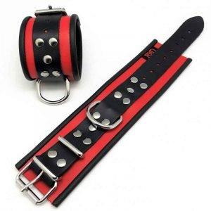 Leder Handfesseln mit D-Ring (7 Farben)