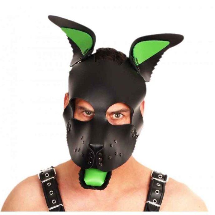 Leder Puppy Maske