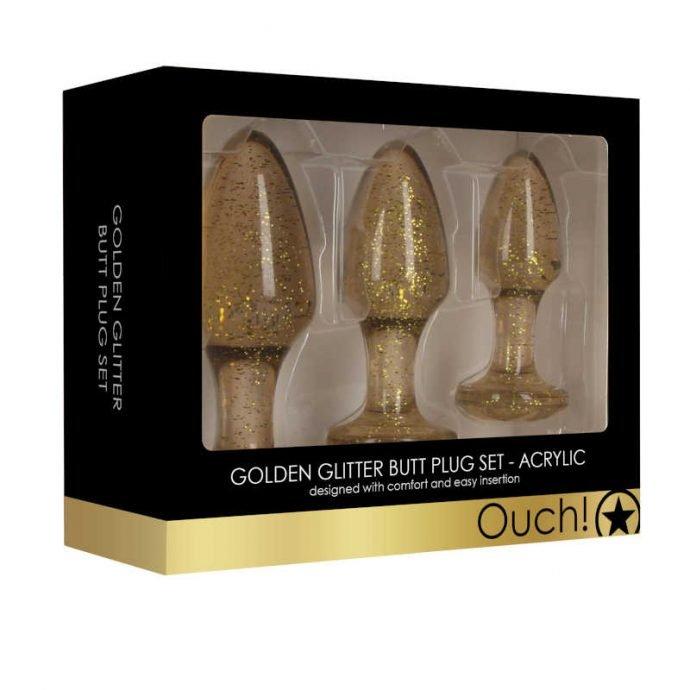 Butt Plug Set Acryl Gold