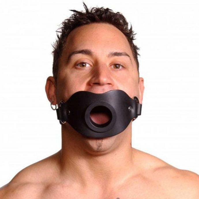 Abschließbarer Knebel mit Mundöffnung