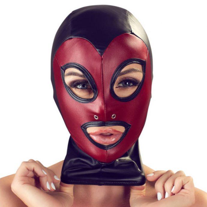 Kopfmaske in 2-farbigem Mattlook