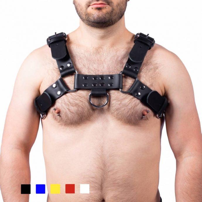 The Red Leder Harness mit Schnallen